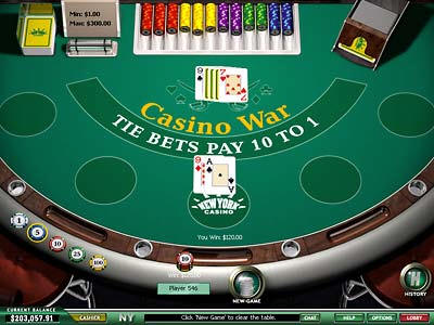 play casino war online